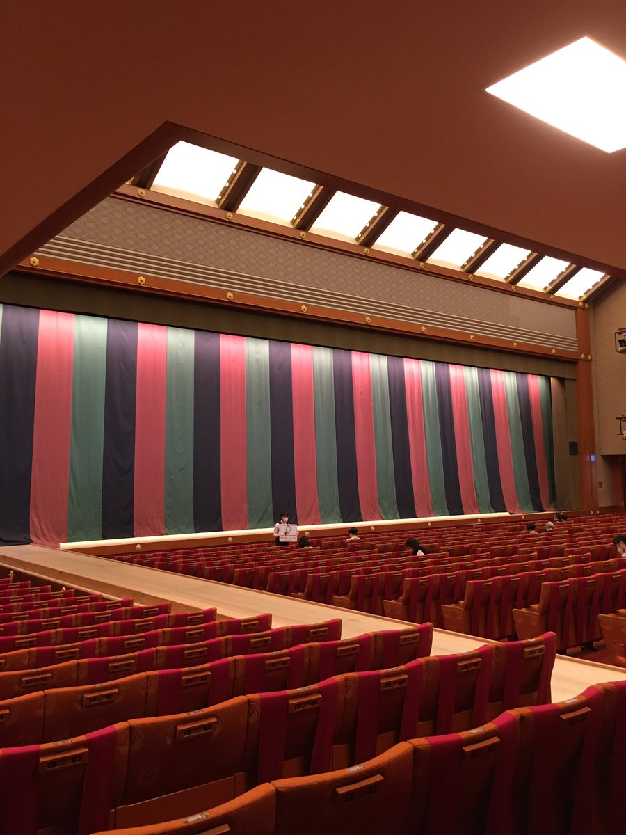 Today's Kabukiza Theatre NOW. #kabuki #tokyo #japan  #歌舞伎 #歌舞伎座 #theatre #play #traditional #六月大歌舞伎 #富士山 https://t.co/CVVftVjajb