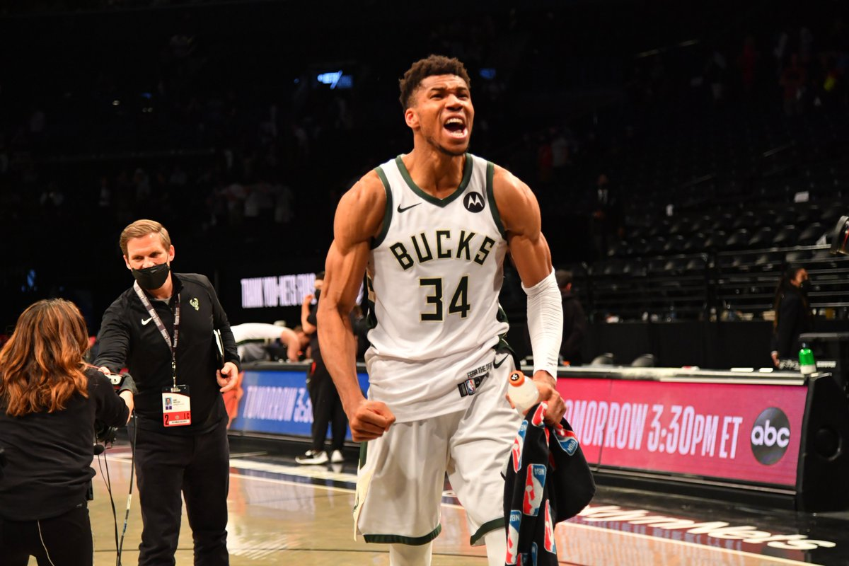 Giannis Antetokounmpo is the 5th player in NBA history to record 40+ points and 10+ rebounds in a Game 7, joining Elgin Baylor, Jerry West, Charles Barkley and Tim Duncan. https://t.co/MIk45mmpu9