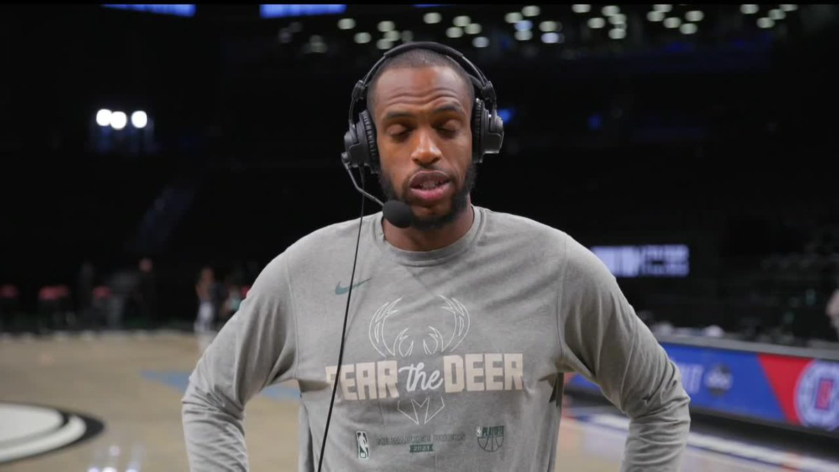 """""""I've never been in a game like this.""""  Khris Middleton talks getting a Game 7 win with the TNT crew. https://t.co/0NmltLnCPz"""
