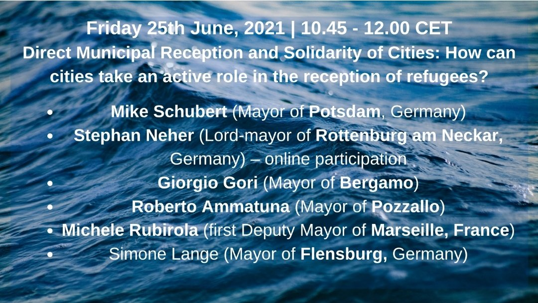 Today & Everyday #WorldRefugeeDay  ⚡Next week we are in Palermo coming together with European mayors exploring new ways of cooperation between cities and civil society.   🚀Register today to follow our online panels! #Sea2City   https://t.co/qYAL26FAtm