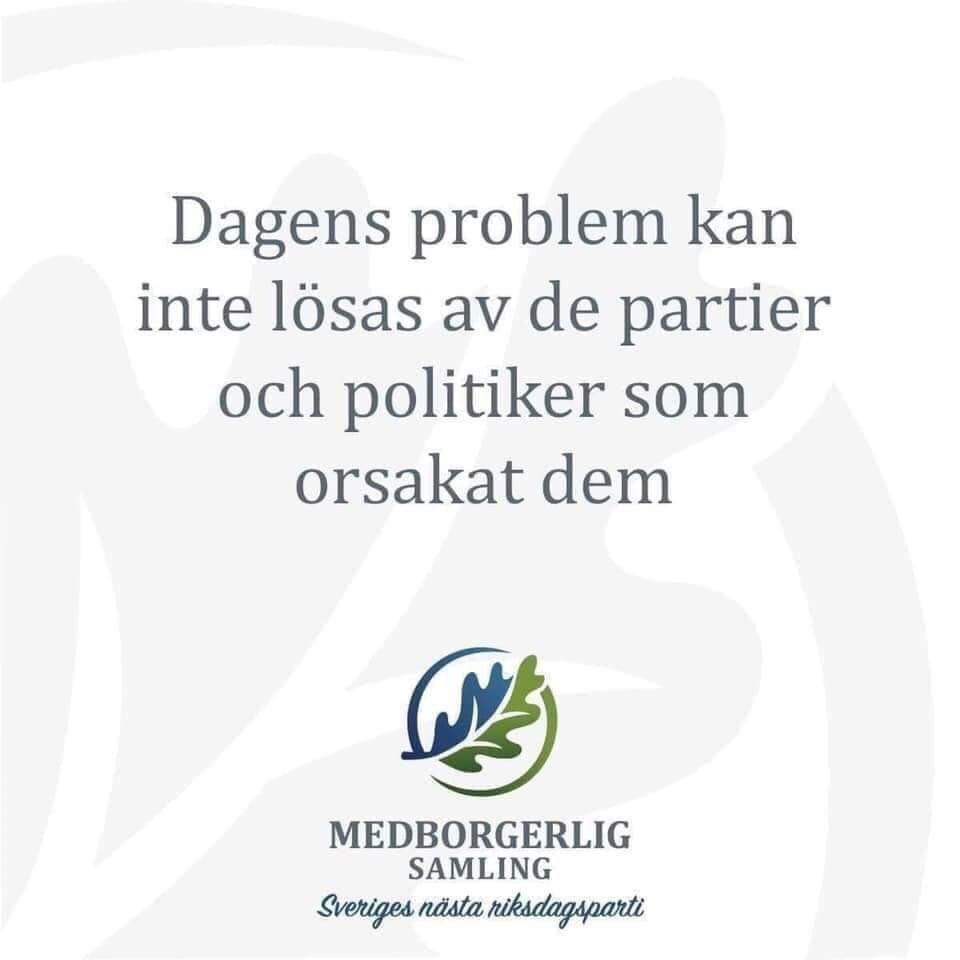 Sverige befinner sig i ett bekymmersamt läge sedan flera år tillbaka. Att avsätta den nuvarande regeringen gör inte saken värre. Tvärtom!  Istället är det ett första steg mot att vi kan få chansen att börja ta tag i alla de problem den skapat. #demokrati #svpol #MEDval21 https://t.co/RyfkB5WA42