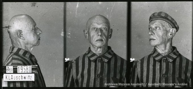 21 June 1874   A Pole, Kazimierz Kujawski, was born in Warsaw. A teacher.  In #Auschwitz from 30 July 1941. No. 19580 He perished in the camp on 15 March 1942. https://t.co/vQbW1qTTAn