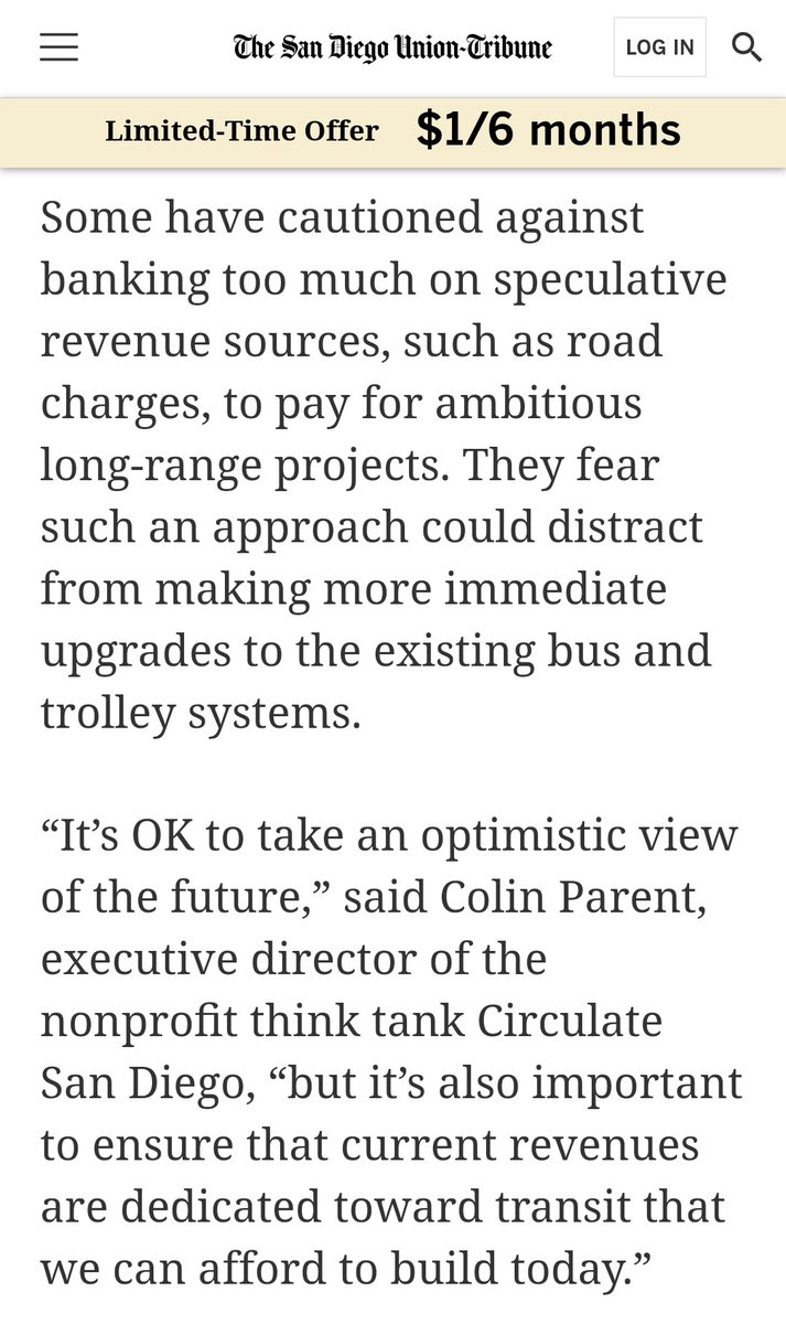 ICYMI: Our Executive Director in the @sdut explaining that @SANDAG's plans must make near-term improvements to bus and trolley service.