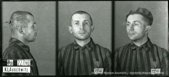 21 June 1911   A Pole, Bogdan Tarczewski, was born in Rybitwy. A farmer.  In #Auschwitz from 22 November 1941. No. 22740 In 1943 he was transferred to Neuengamme. He perished on 3 May 1945 on Cap Arcona ship in Lubeck Bay. https://t.co/99UnHk8oof