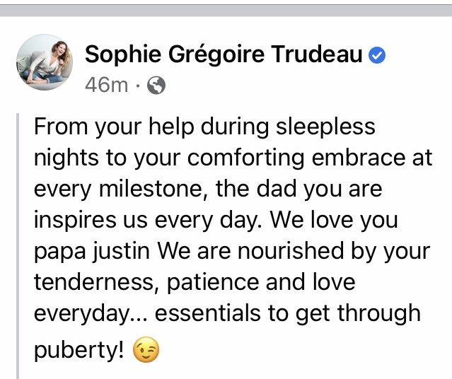 The Prime Minister's wife Sophie posted this today. https://t.co/w4SKvvJXzG