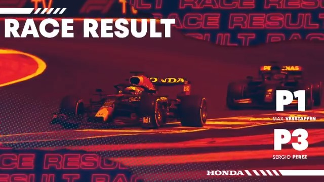 … And what a great job by the boys!  👏👏👏 @redbullracing @Max33Verstappen @SChecoPerez