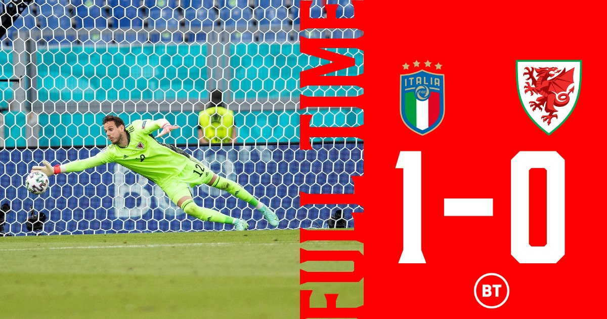 🇮🇹 1-0 🏴 SGÔR TERFYNOL  Bois bach, we don't do straightforward.  The last 16 place is booked. The Mabinogion continue.  #WAL | #EURO2020 | #TogetherStronger https://t.co/NjBT3w6CZY