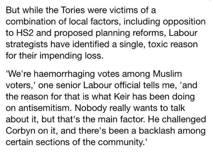 """This quote from a """"senior Labour official"""" in the Mail must be called out.  It is pitting Muslim and Jewish people against each other, demonising communities. It is racism and should be condemned as such. https://t.co/Hwnd29FVJM"""