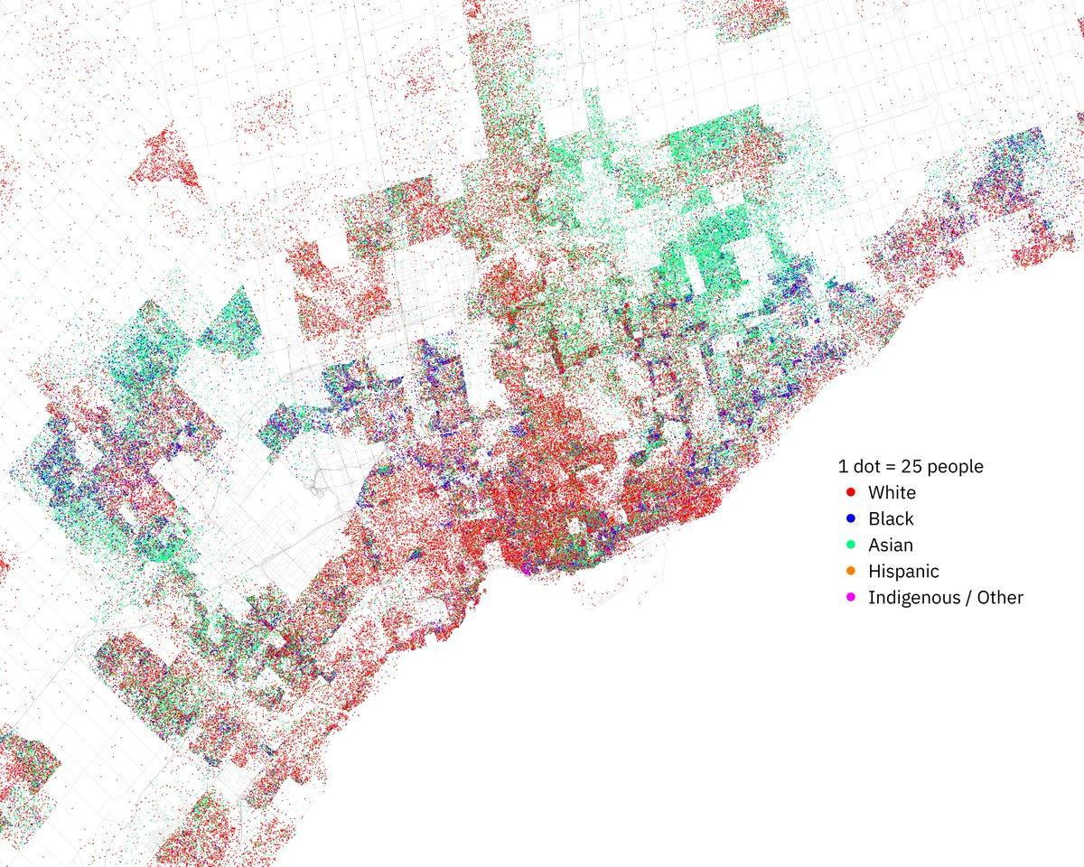 US-style demographic map of Toronto. https://t.co/SMoExKClnz