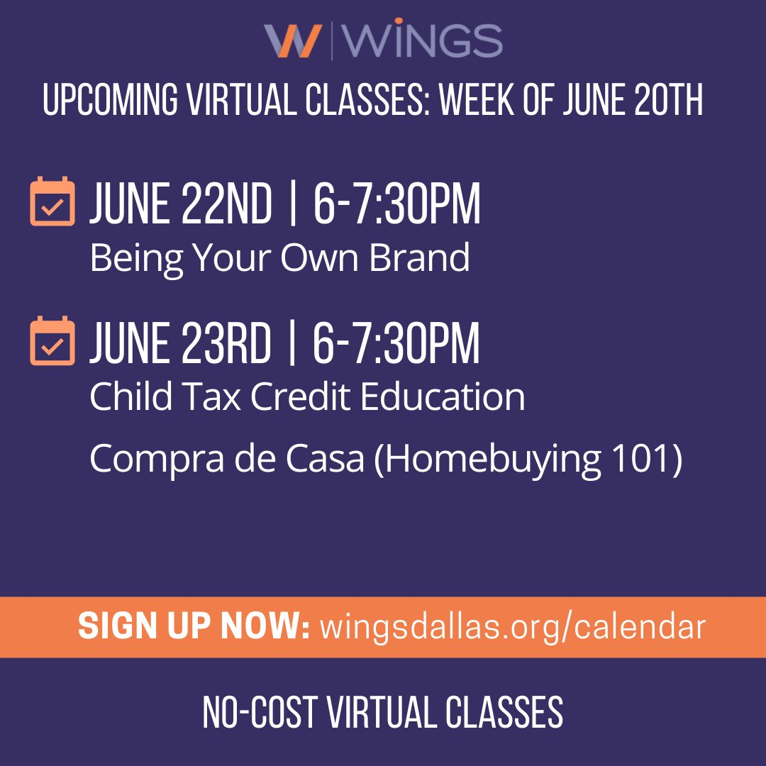 test Twitter Media - Register for your next free, virtual class with us! Coming up this week we have classes on personal brand, tax credit, and homebuying (in Spanish)! Please join us (and bring a friend)! Register at https://t.co/VaAFMOs4HS #freeclasses #freeonlinelearning #virtualclasses #levelup https://t.co/SHRvn3M0CS