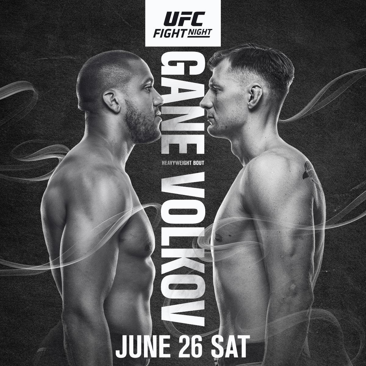 We've got heavyweights in 𝗽𝗿𝗶𝗺𝗲𝘁𝗶𝗺𝗲 this Saturday at #UFCVegas30  🇫🇷 @Ciryl_Gane vs @AlexDragoVolkov 🇷🇺 https://t.co/dMnEHcEM4E