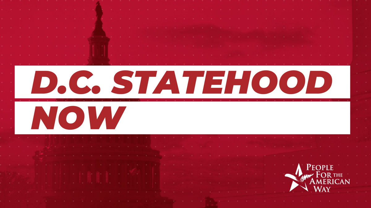 #DCStatehood is both a public safety & a racial equity issue. The people of our capital city deserve real self-determination.   Urge the Senate to stop this undemocratic injustice and make #DCStatehoodNOW a reality!   Add your name ➡️ https://t.co/paPvgVLMxD https://t.co/Ixa7RW6ddU
