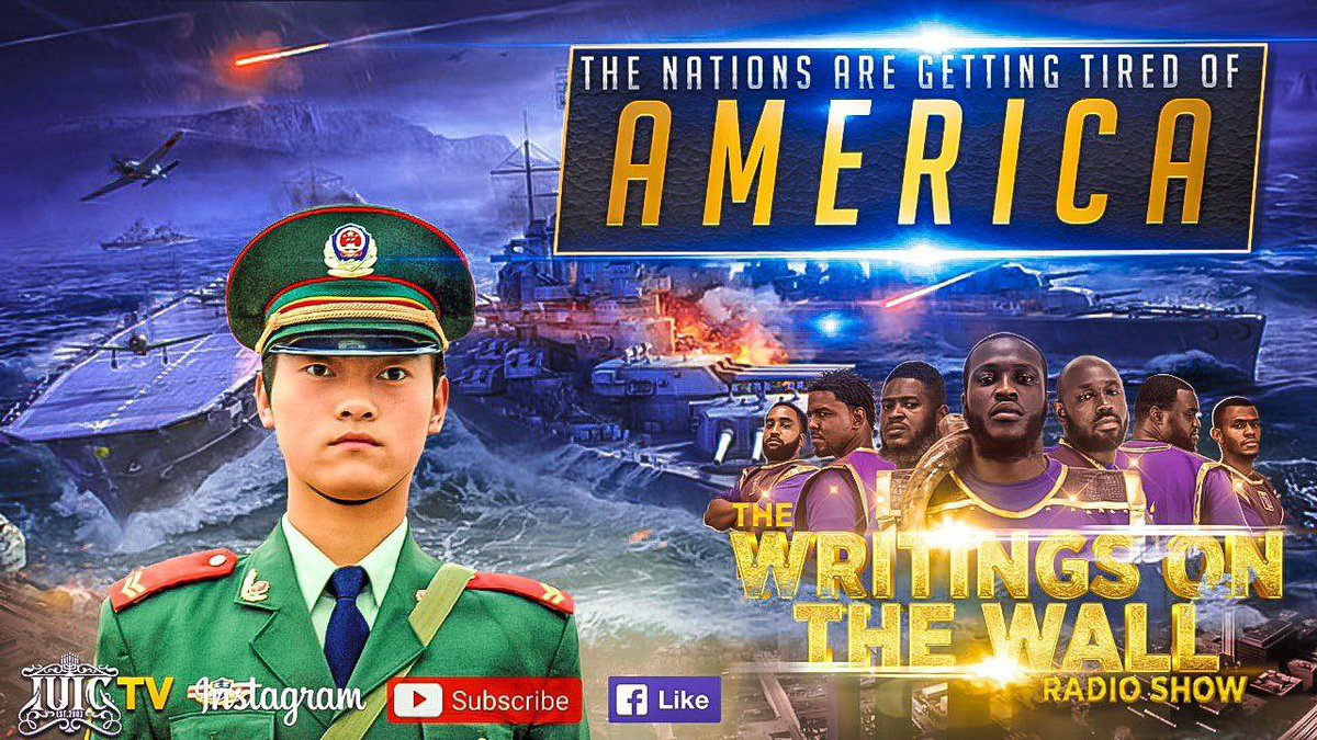 """https://t.co/4HZzrhA9hX   🔥🔥🔥🔥🔥🔥🔥🔥🔥🔥🔥🔥🔥   The Writings On The Wall Radio Show   """"The Nations Are Getting Tired Of AMERICA""""   Make Sure To Tune In!!   #IsraelUnitedinChrist #IUIC #Tallahassee #Tpain #Florida #Israelite #12Tribes #Blacks #Hispanics #Latinos https://t.co/mYgJv5cMSp"""