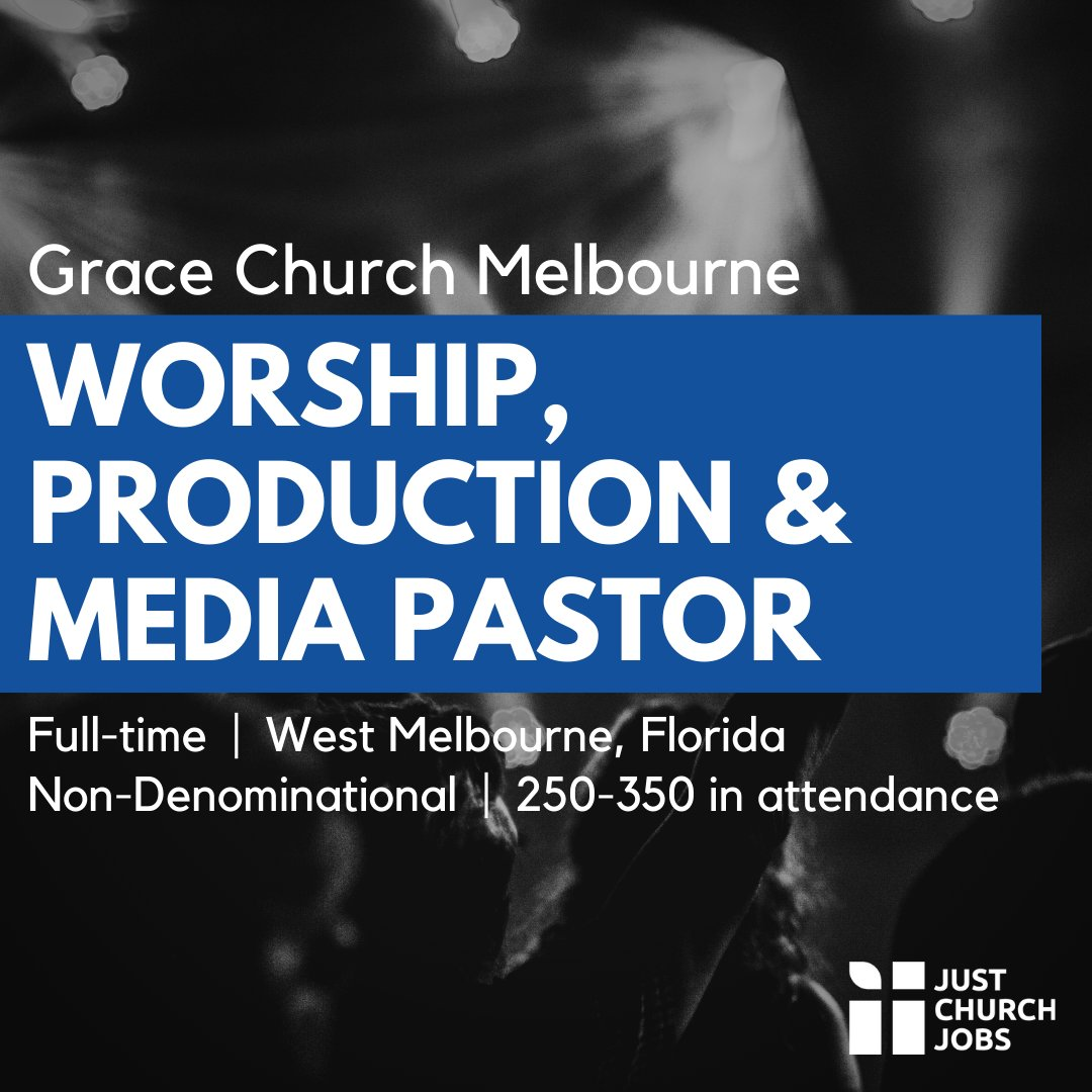 Grace Church Melbourne in West Melbourne, FL is seeking a Pastor to oversee Worship, Production, and Media. Learn more at https://t.co/8sxFXhiK9A #justchurchjobs #WorshipMinistry #ChurchTech #Florida https://t.co/C2Tf1aFvDK