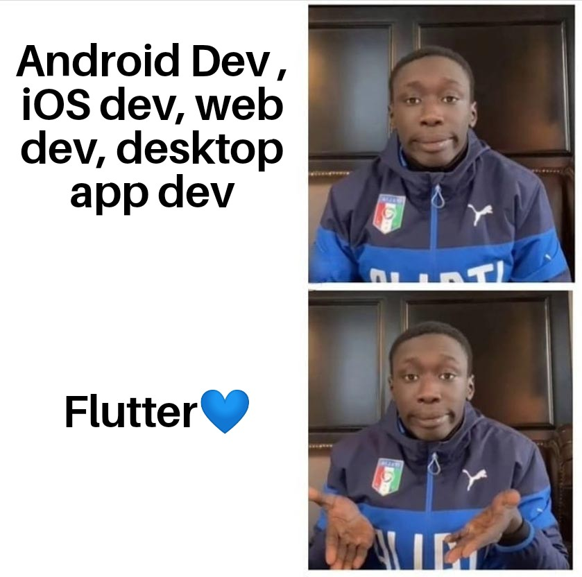 Many problems one solution....💙  #Flutter #flutterdev #dart #Javascripts #Java #Swift #AndroidDev #iOSDev #webdev #macOS #Windows #Linux #100DaysOfCode #DEVCommunity #Python #opensource #programming #Coding #development #developer #React #reactjs https://t.co/YnCGi5rfRO