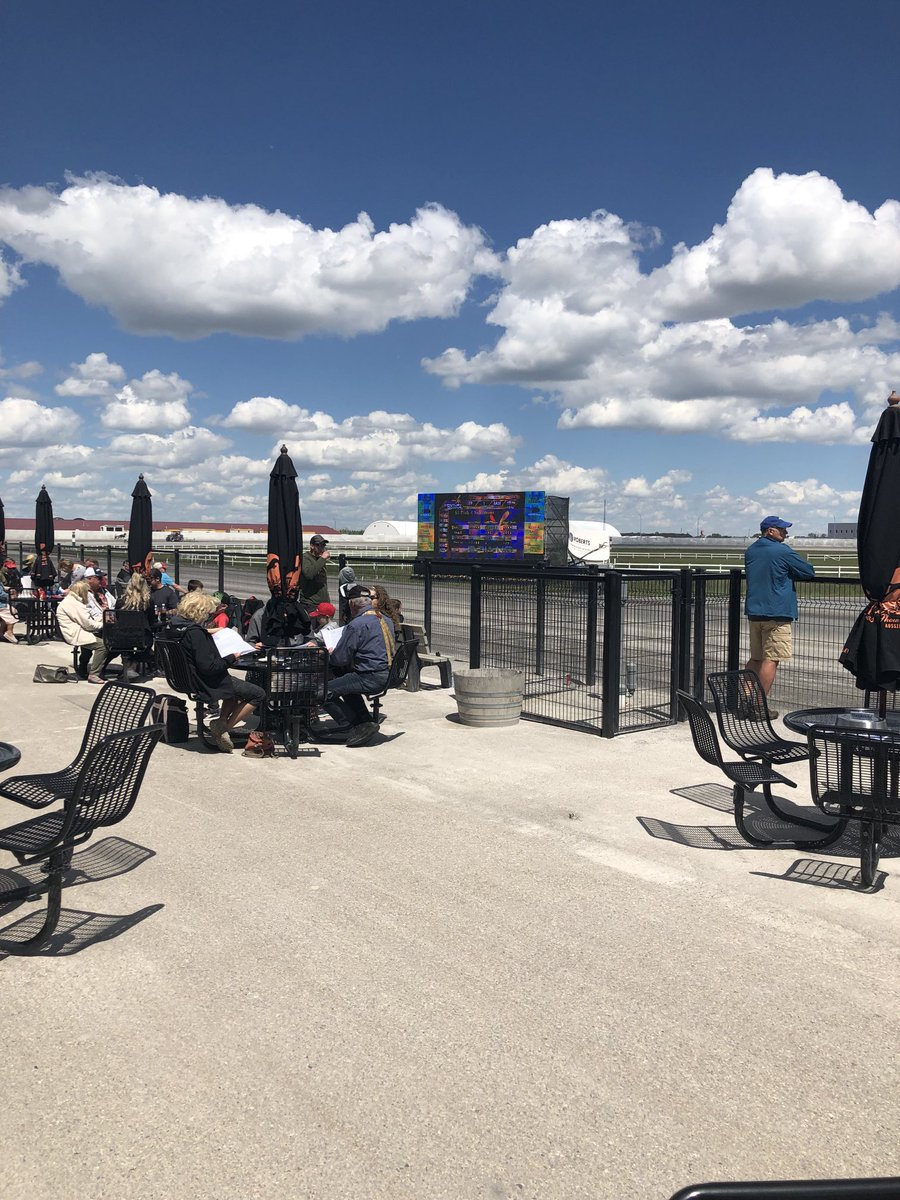 Great crowd and another beautiful day @CenturyDowns raceway. Ten dash card features Alberta Diamond and Marksman Stake Series. Join us for what promises to be an exciting day of harness racing!!! @ABStandardbred @thehorsesab https://t.co/LPmY3bSqXR