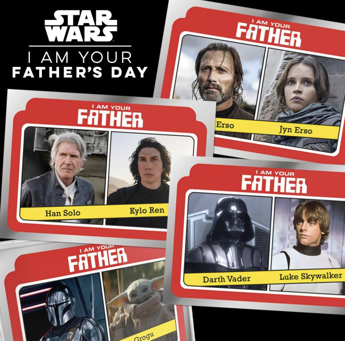 This Father's Day, Topps & Star Wars have teamed up to create a set highlighting galactic fathers and their kids! 🌟💕  Available for a limited time, exclusively here: https://t.co/3sJAmGUtI0 https://t.co/ean8XySioK