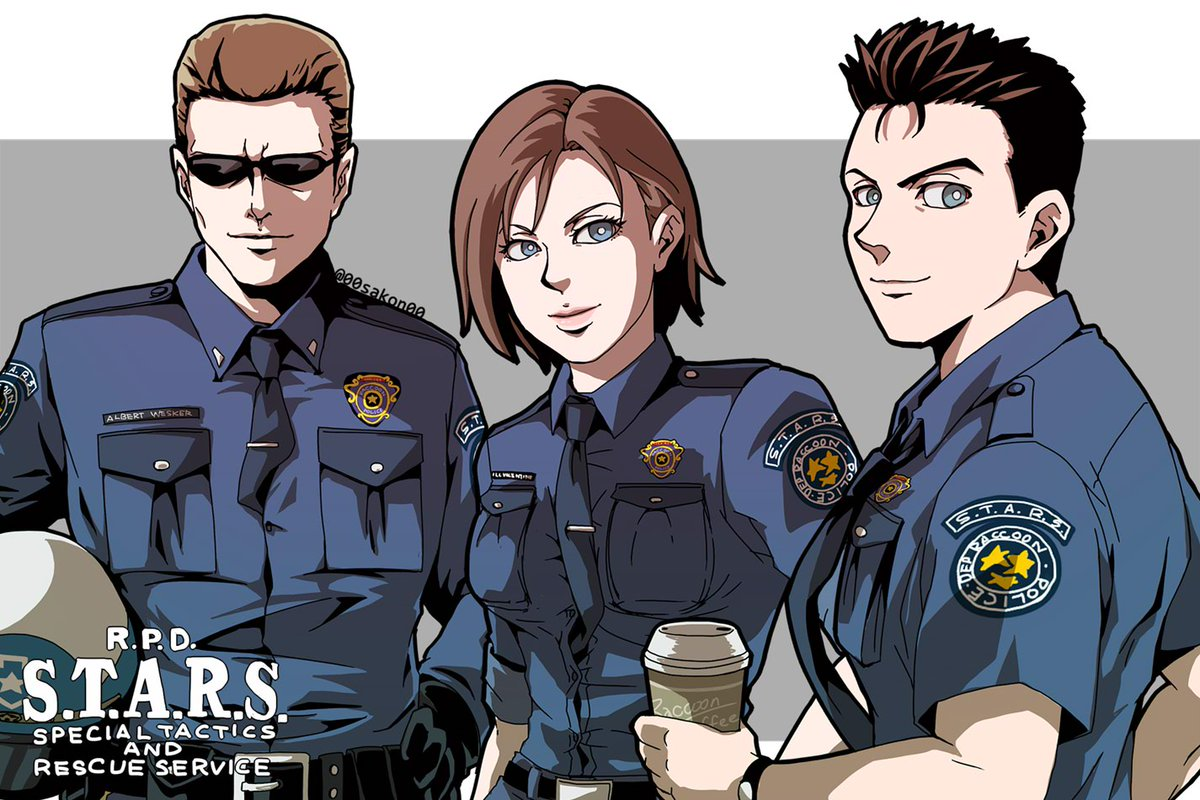 S.T.A.R.S. delusion outfit👮 #ResidentEvil #REBHFun *my oldwork re-edit https://t.co/cOp3qGLjIJ