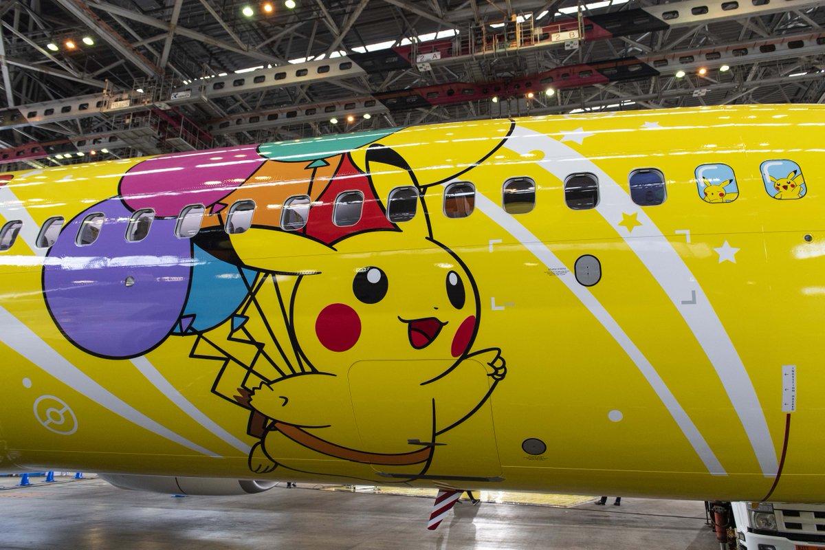 そらとぶピカチュウプロジェクト!飛行機の窓にデザインされたピカチュウにも注目!