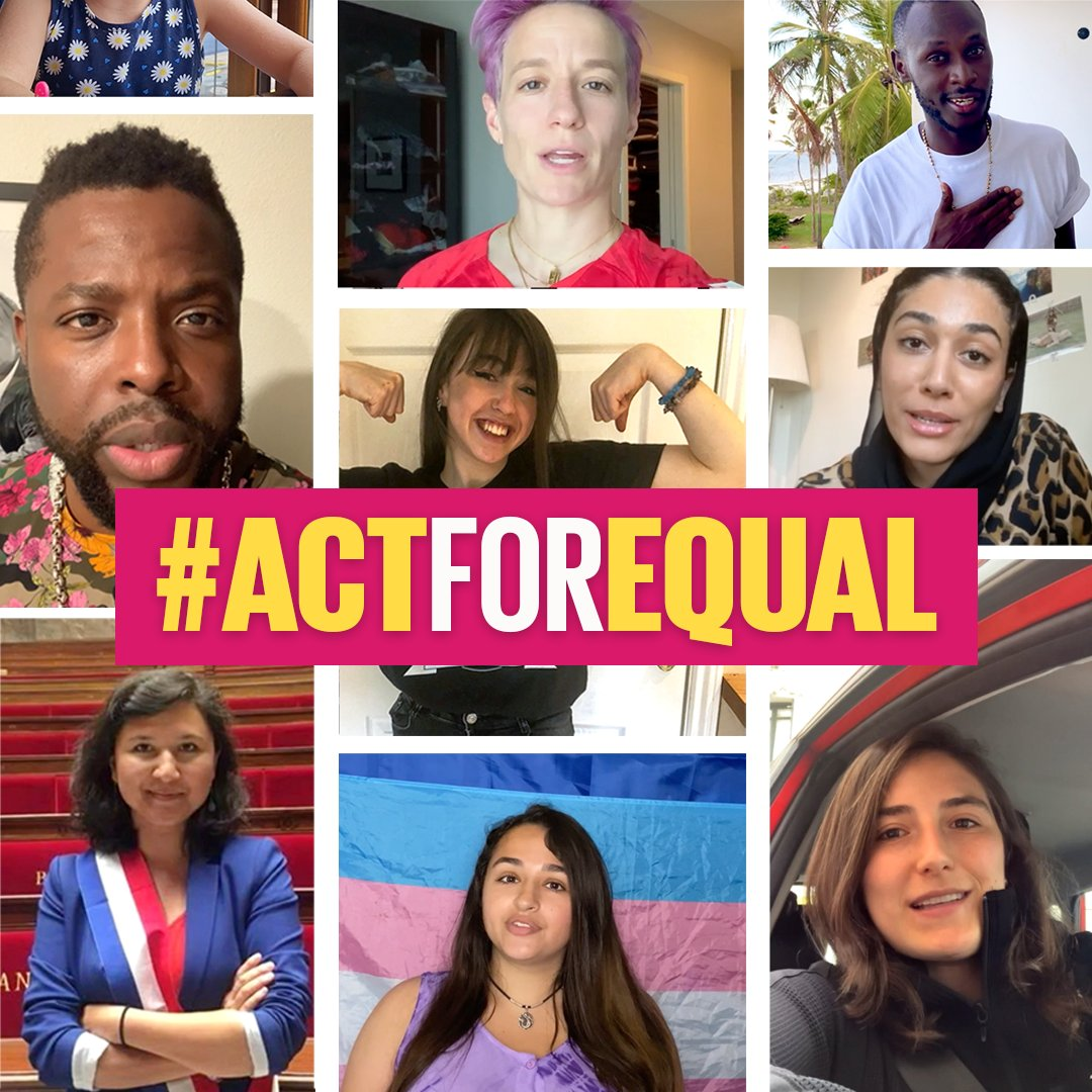 At the end of June, world leaders will meet at the #GenerationEquality Forum in Paris to catalyze change for gender equality.  This is your chance to be part of the action! Raise your voice & join us & @TheGlobalGoals in telling the world why it's time to #ActForEqual. https://t.co/AQTk8IVbG9