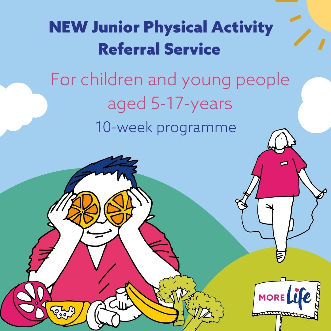 RT @MoreLifeGMCR: We've launched a new service exclusive to #GreaterManchester – a Physical Activity Referral Service to help children and…