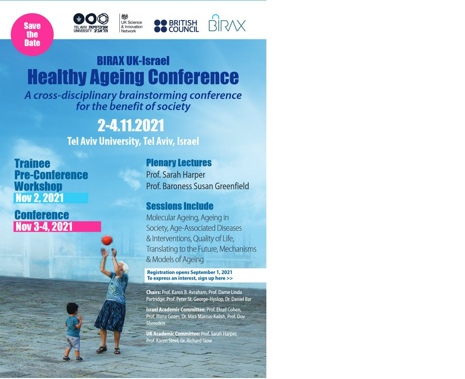 Looking forward to the next #BIRAX UK-Israel Healthy #Ageing Conference, save the date!