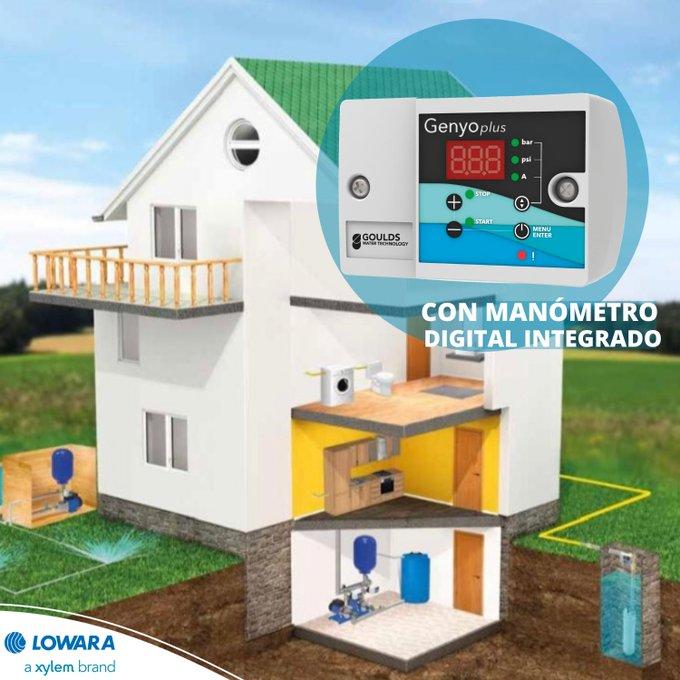 El presostato electrónico con manómetro integrado GENYO PLUS ofrece una #protección completa de la bomba, cuenta con la certificación WRAS para uso co...