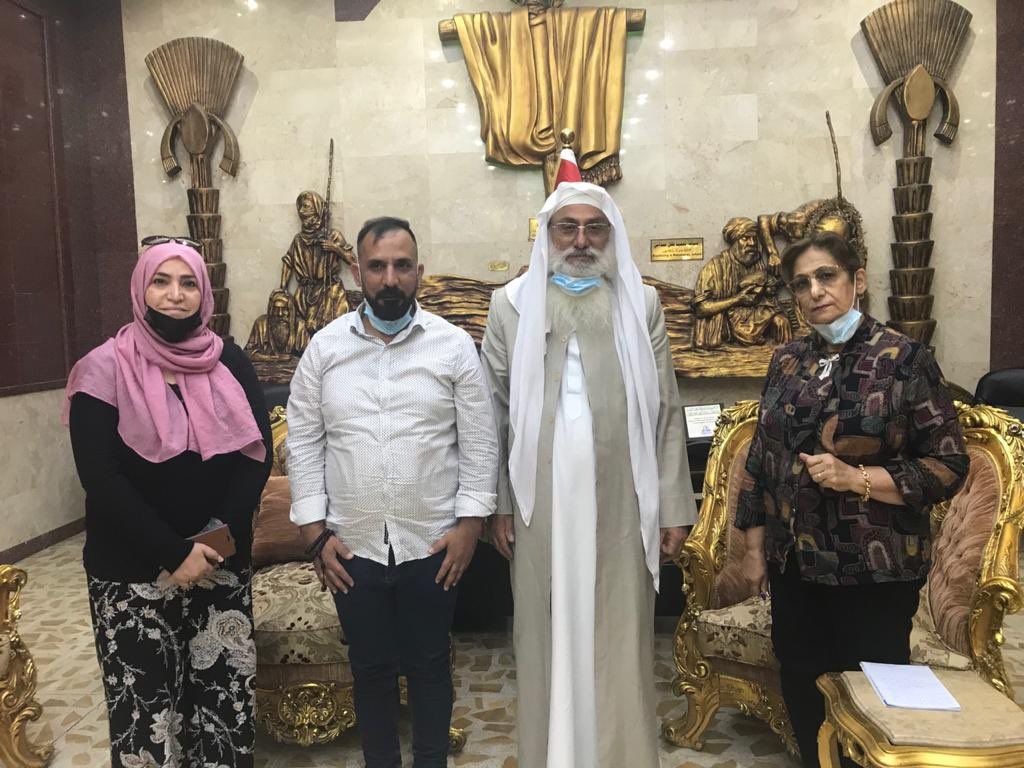 The team recently met with the head of the Sabian-Mandaean sect in Iraq and the world, Sheikh Sattar Jabbar Al-Hilu. https://t.co/iuKKPqQ3Ap