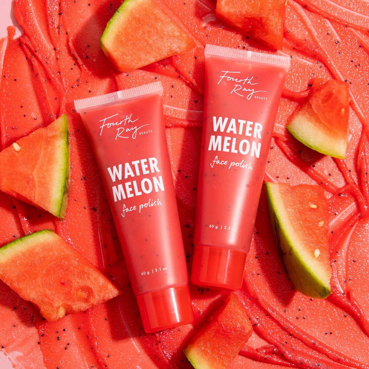 Super fresh faced🍉💦 Meet Watermelon Face Polish, made with super fine sugar & poppy seeds to gently exfoliate while antioxidant-rich watermelon seed oil balances, and restores dull complexions🍉 💦Skin feels: 🍉Fresh 🍉Healthy 🍉& Smooth Launching Wednesday 6/23 at 10 am pst! https://t.co/LlwpSX9D75