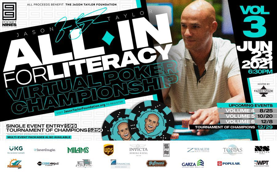 It's well documented that @JasonTaylor doesn't like to lose. HATES it, in fact. What say you?  Join JT for his All In for #literacy Virtual Poker Championship V3 tourney this Wed 6/23! @UKGInc @FloridaUPSers @AjMilam @NeostarFootball @PhinManiacs   https://t.co/idT4XsMQqt https://t.co/rfiRxfoPhT
