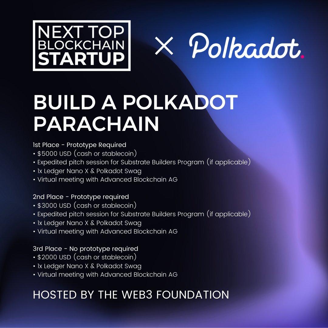 Next Top Blockchain Startup | Build to Polkadot Parachain