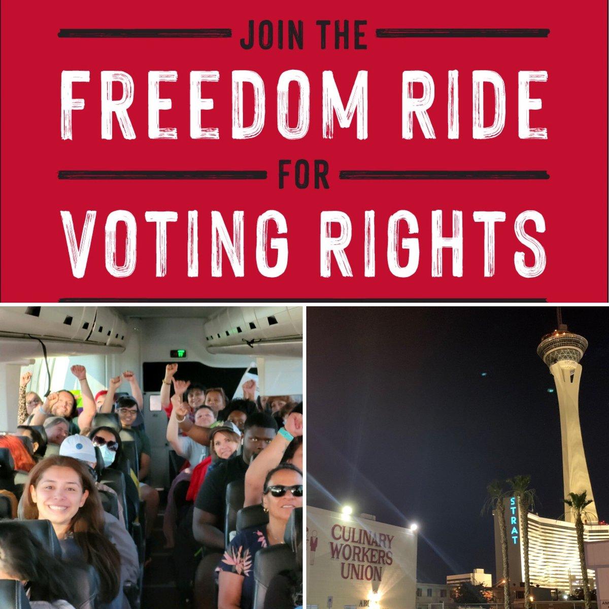 The San Diego #FreedomRide2021 delegation left Vegas at 5 AM and we're Denver-bound!  @bertharodz @GreenNewDealSD @AriCriste