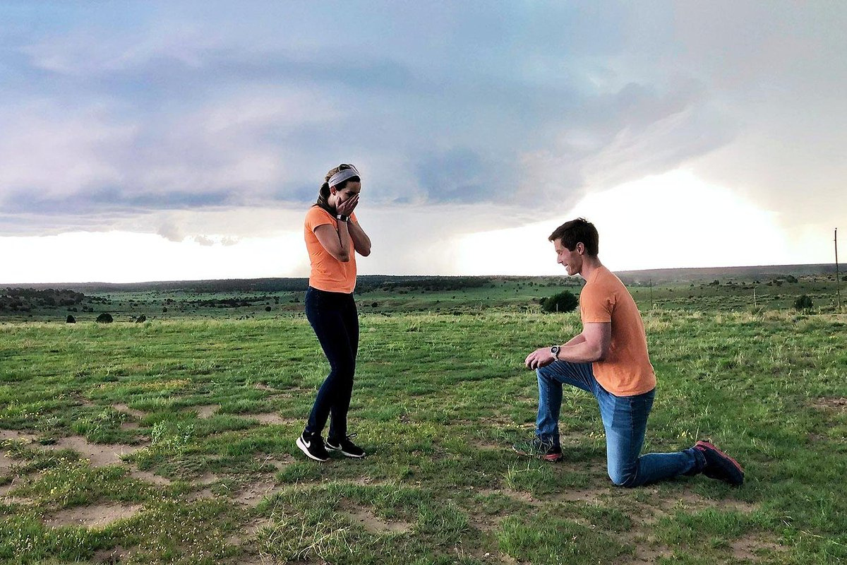 Tornado-chasers agree to marriage in Colorado.  Must have been a whirlwind romance.  I'm here all week. https://t.co/YuQsvbRIeS