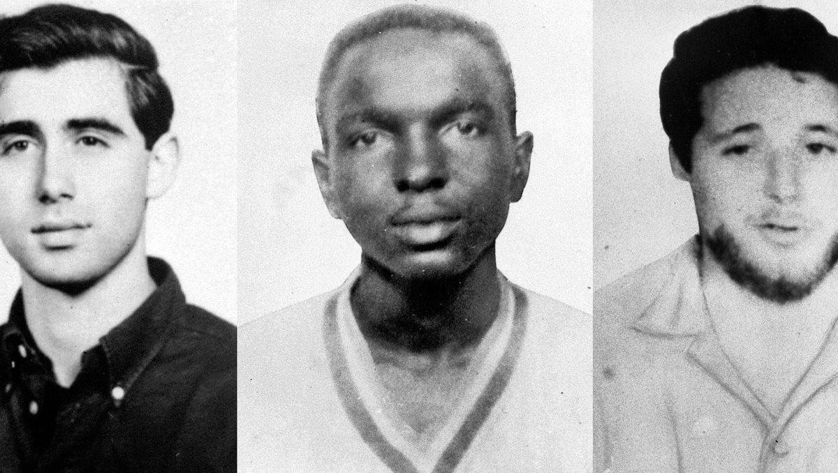 During Freedom Summer, Andrew Goodman, James Chaney and Michael Schwerner went missing in Philadelphia, Mississippi, on this day in 1964.  Amid threats of violence, these three heroes were trying to register Black Americans to vote.  That day, they were shot to death. https://t.co/kazBtVjGuG