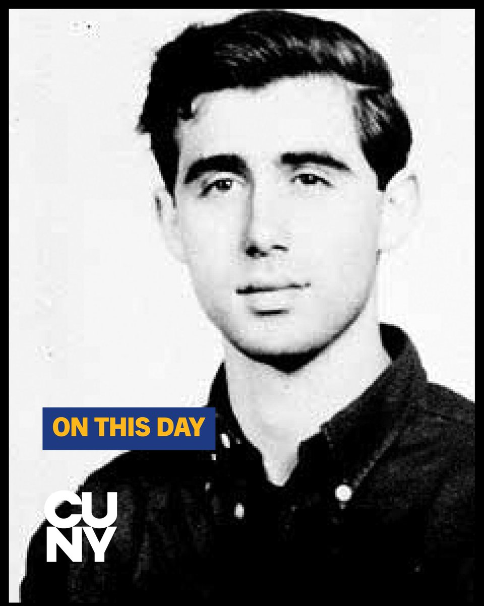 #OnThisDay in 1964, civil rights workers Michael Schwerner, James Chaney, and Andrew Goodman were murdered by the Ku Klux Klan in Mississippi. Goodman, a 20-year-old @QC_News student, traveled to the state to join a voter registration campaign. https://t.co/ff6o2EdPlT https://t.co/6l84UctBmW