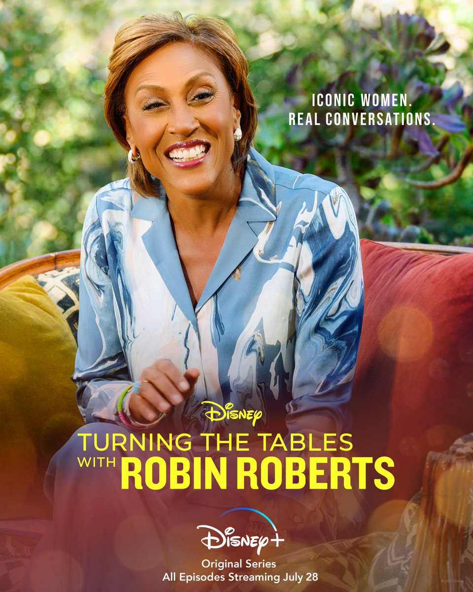Every truth behind these iconic women has the power to inspire. All episodes of Turning the Tables with Robin Roberts, an Original Series, start streaming July 28 on #DisneyPlus. #TTWRR https://t.co/nALAFUw1dp