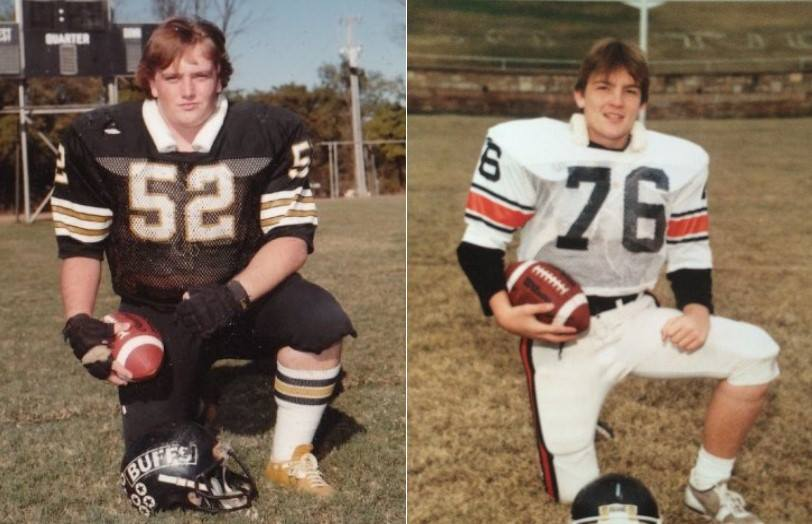 """Even tho we have eligibility left, we received no invite to this weekends #ChampUBBQ  Not sure how many ⭐️s we are or were cuz we're so old it was """"blue chips"""" Drop your HS football photo below ... we'll let #Sooners fans give you stars https://t.co/3Yz8SK5nKo"""