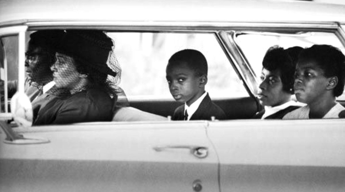 Family of voting rights hero James Chaney on way to his burial, including his justifiably furious twelve-year-old brother Ben:                @BillEppridge https://t.co/d8P8OaSYXM
