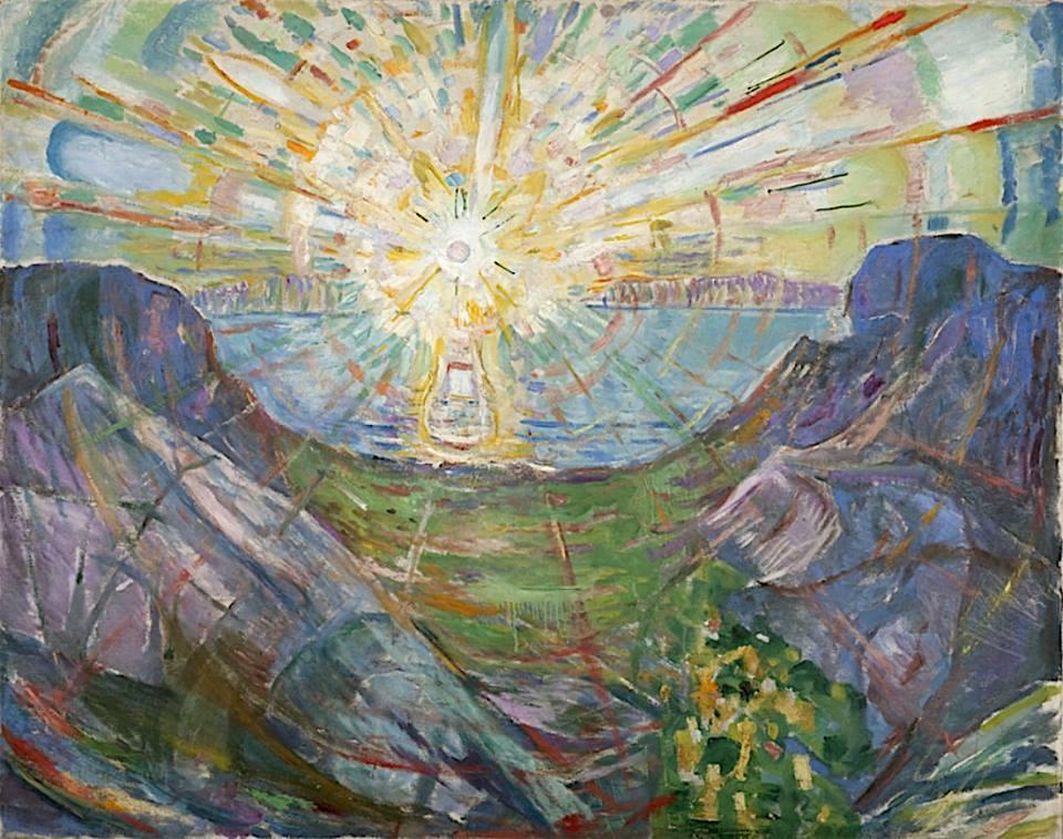Edvard Munch, The Sun, 1910/13 https://t.co/OV1Zr3ZwpY