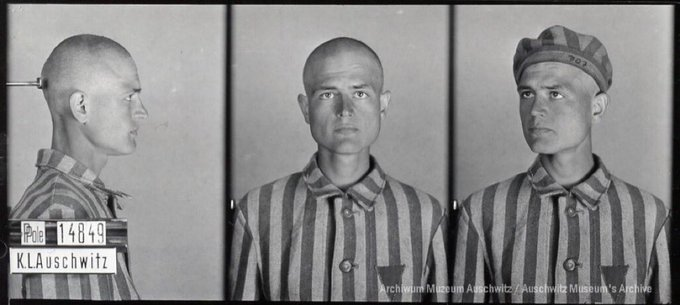 22 June 1916   A Pole, Jan Kordasiewski, was born in Stamford (USA). A clerk.  In #Auschwitz from 6 April 1941. No. 14849 He perished in the camp in September 1941. https://t.co/GEmCMowvZT