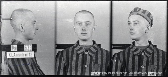 22 June 1918   A Pole, Władysław Malik, was born.  He was deported to #Auschwitz from Tarnów on 14 June 1940 in the first transport of Poles to the camp. No. 639 He perished in the camp (date unknown). https://t.co/9teyo6xf8n