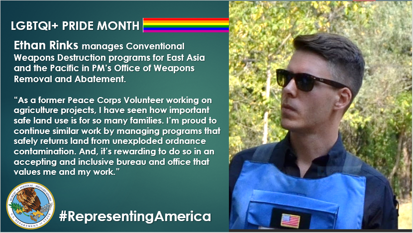 @StateDeptPM celebrates diversity and inclusion, and is proud to showcase our dynamic team's contributions to strengthening allies and partners worldwide. #RepresentingAmerica  #Pride2021 #YouAreIncluded https://t.co/xJG63LoCr4