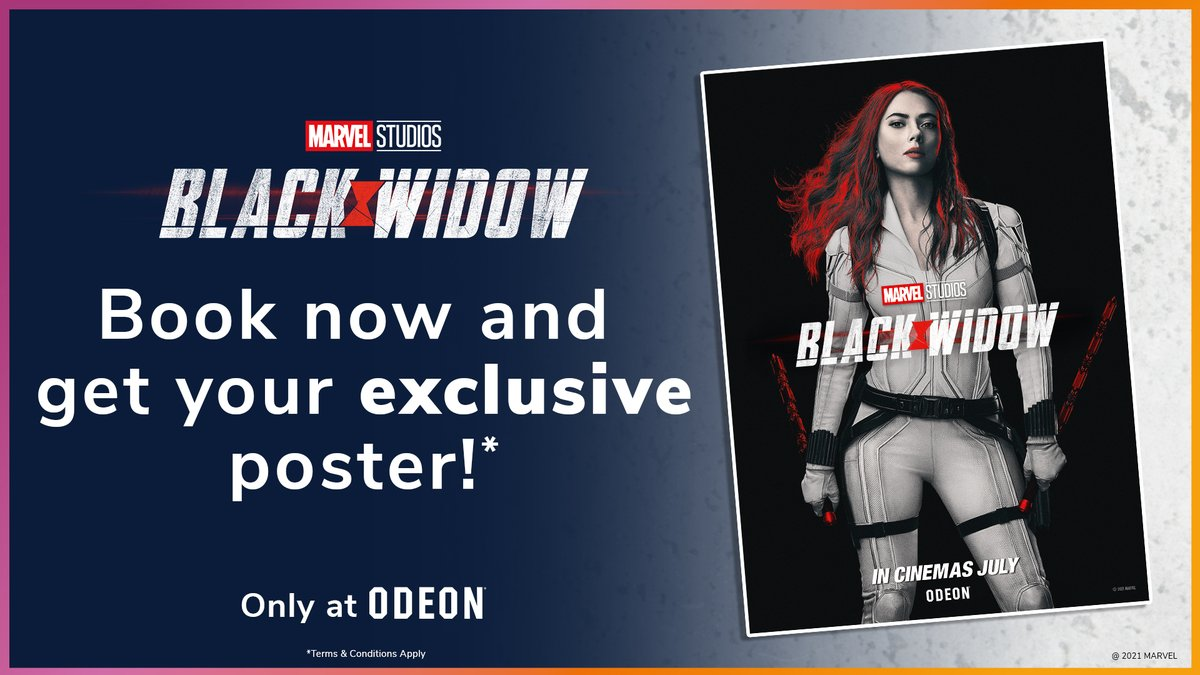 📢 Tickets for Marvel Studios' #BlackWidow are on sale NOW!   We've teamed up with Disney to give away an exclusive poster* to everyone joining us for opening weekend, don't miss out!  Book now: https://t.co/lxRw0ZGlrz 🎫   *T&Cs apply. https://t.co/5plo3waGxn