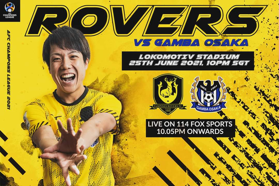 """Tampines Rovers FC on Twitter: """"AFC CHAMPIONS LEAGUE DEBUT The Stags will  make their AFC Champions League debut this Friday, 25th June against  Japanese giants Gamba Osaka. Catch the match live on"""