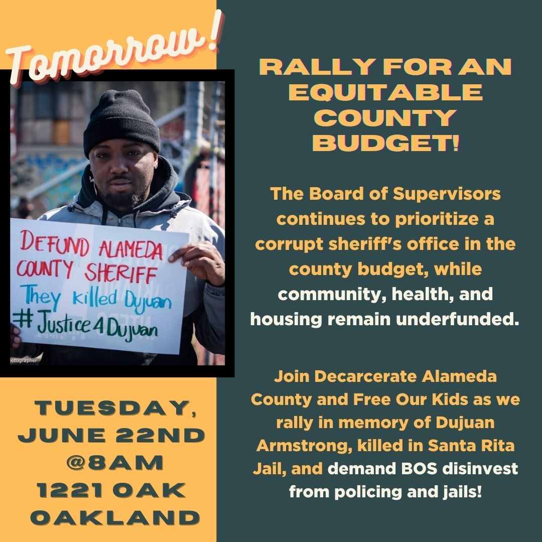 Rally for an Equitable Alameda County Budget @ County Building