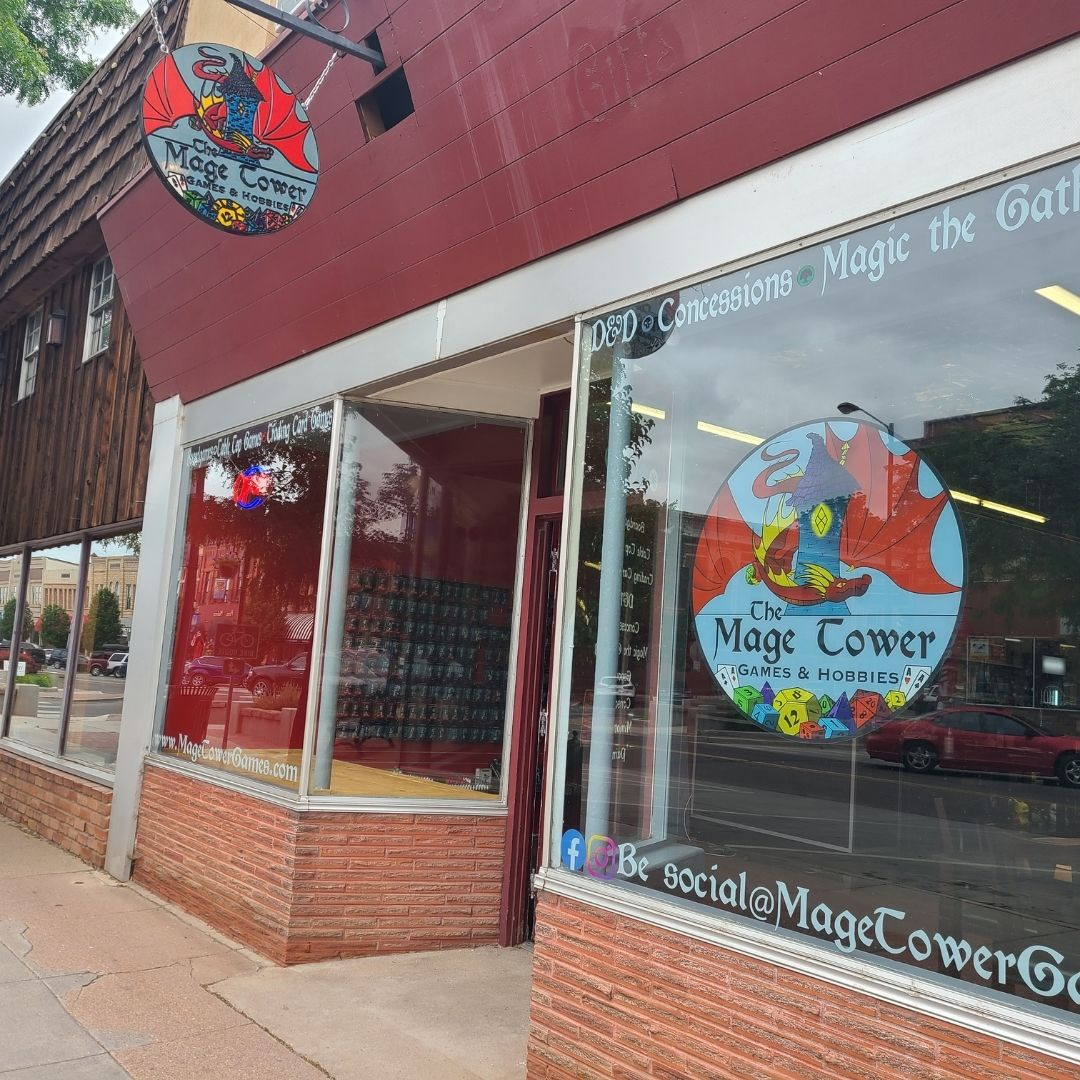 """DARE Print & Sign Co. on Twitter: """"Check out these gorgeous #windowclings  for @MageTowerGames in downtown Cañon City! They have #cardgames  #boardgames #computergames and more! If you need #customgraphics or  #fullcolorprinting for"""