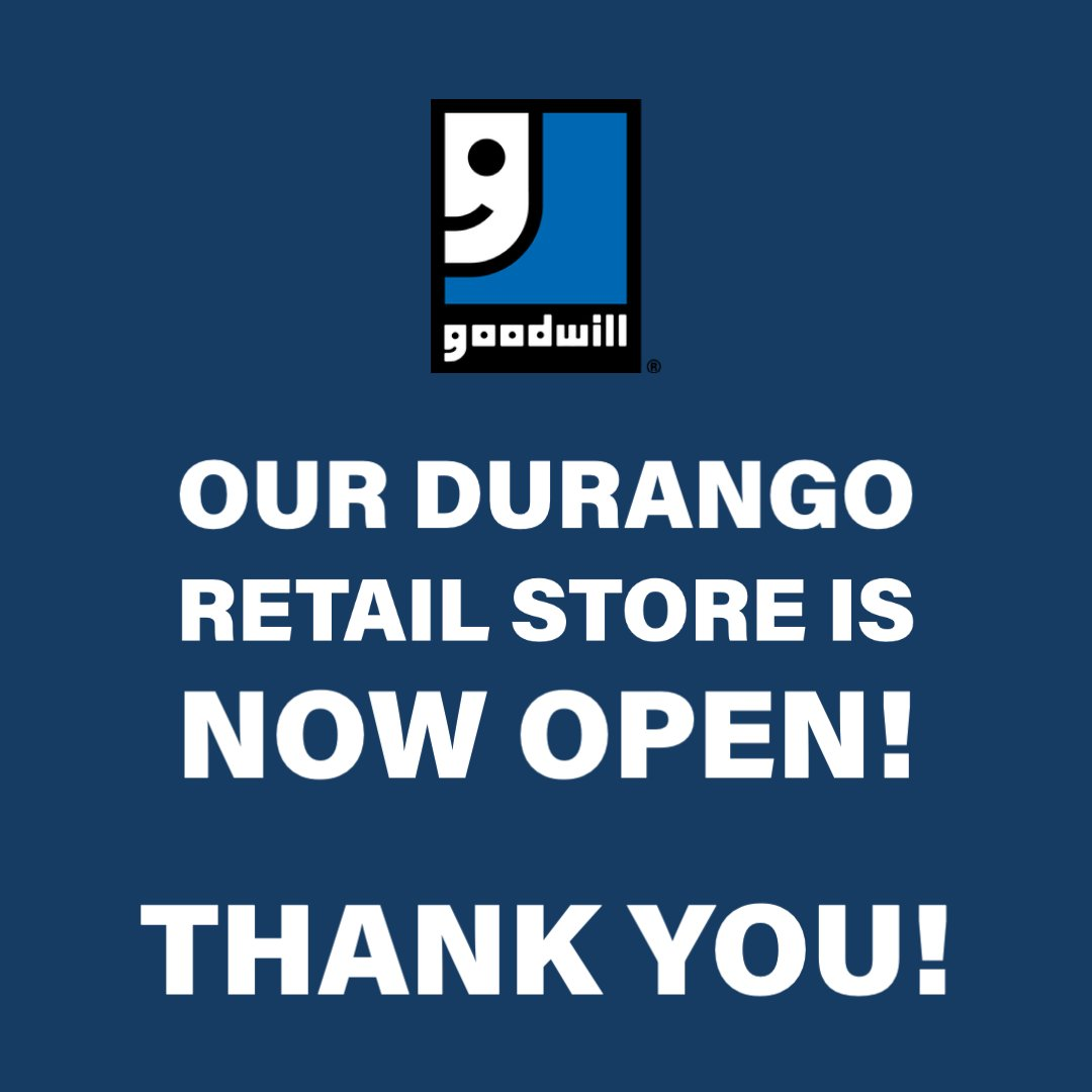 Attention #Durango Shoppers, the Durango store is now back open. Thank you again for your patience! #DurangoColorado https://t.co/WCnKocc2S4