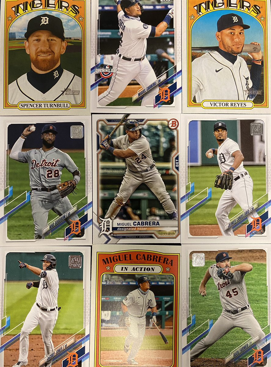 Tigers cards giveaway: RT + follow @BradGalli for a chance to win these 2021 @Topps @Tigers cards https://t.co/QtXtvF3kzu