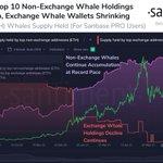 Image for the Tweet beginning: 🐳 #Ethereum's top 10 non-exchange