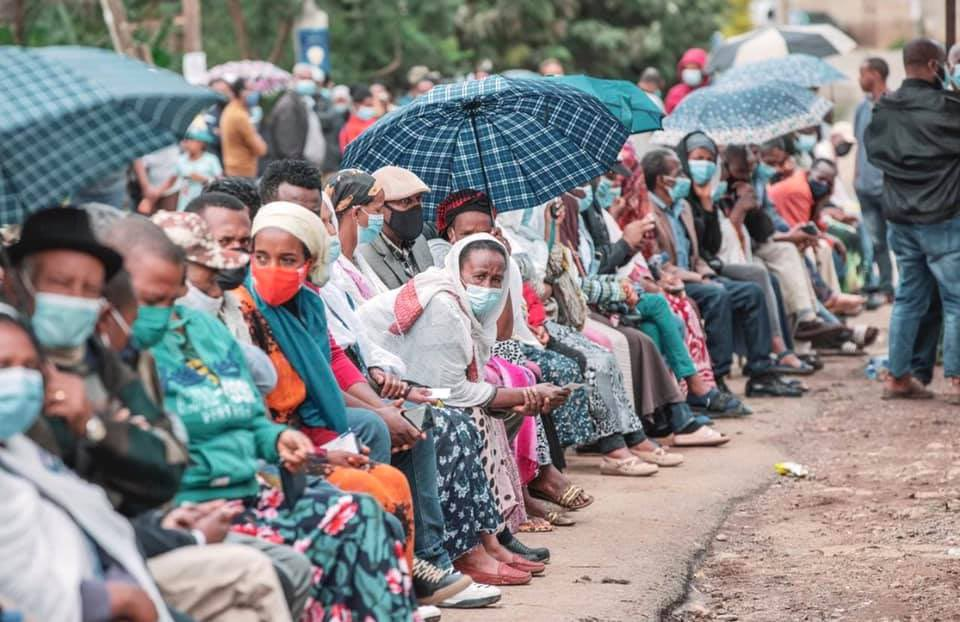 June 21, 2021 is a historic day for #Ethiopia. All sections of society have gone out to cast their voice in our nation's first free & fair election. Pictures are a thousand words and they show the earnestness, commitment to peace and the democratic process, by our people. 1/3 https://t.co/0DImepJQZW